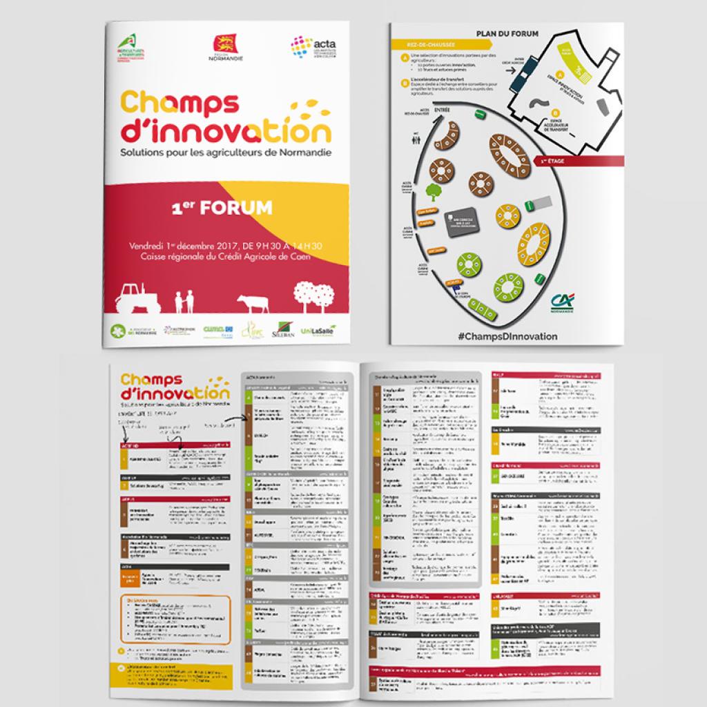 conception graphique Champs d'innovation