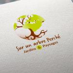 création logotype Sur un arbre perché